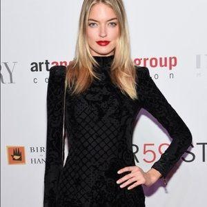 Balmain H&M Black Velvet Limited burnout dress
